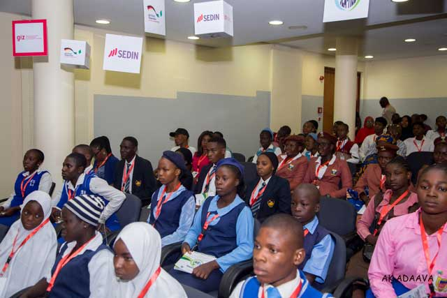 Cross section of students at the event