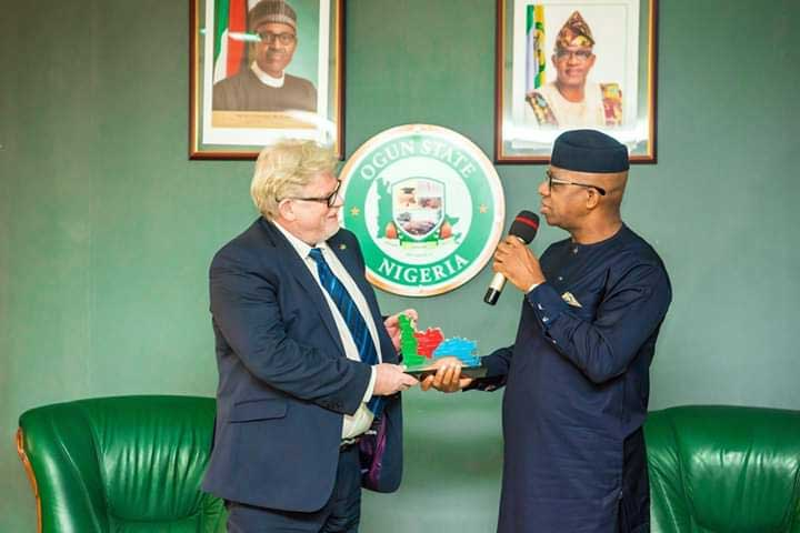 SEDIN head of Programme, Dr. Detlev Holloh and the executive governor of Ogun state Prince (Dr) Dapo Abiodun, MFR